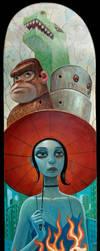Monsters Above, Fire Below by jasinski