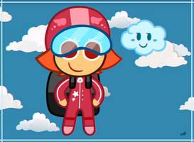 : Skydiver Cookie : by MysteryCorner