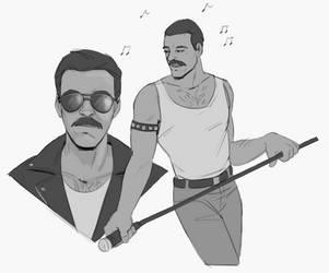 Freddie Mercury by Meriinu