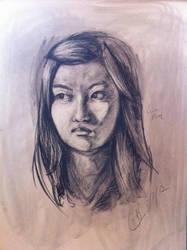 Charcoal Portrait by NTibke
