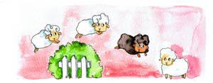 Jumping Sheep by Aiko-Katon