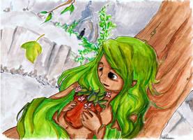 La jeune fille au fond du trou by Aiko-Katon