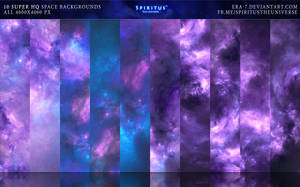 10 SUPER HQ SPACE BACKGROUNDS - PACK 4 by ERA-7