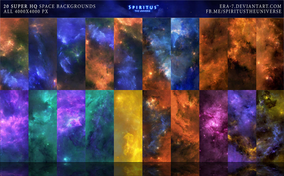 20 SUPER HQ SPACE BACKGROUNDS - PACK 16 by ERA-7