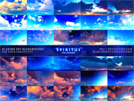 30 ANIME SKY BACKGROUNDS - PACK 18 by ERA-7
