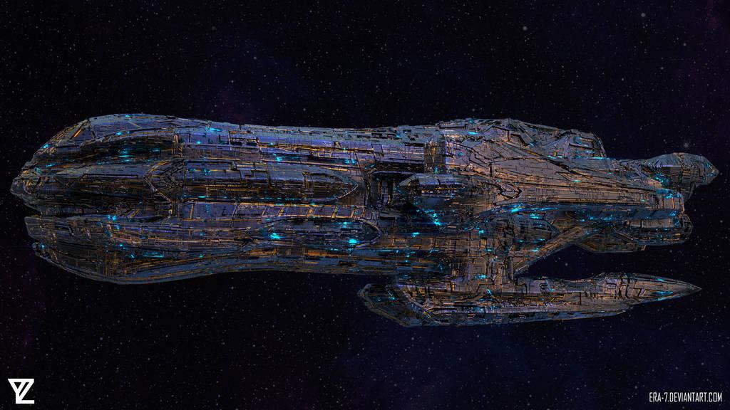Spaceship Concept Art by ERA-7