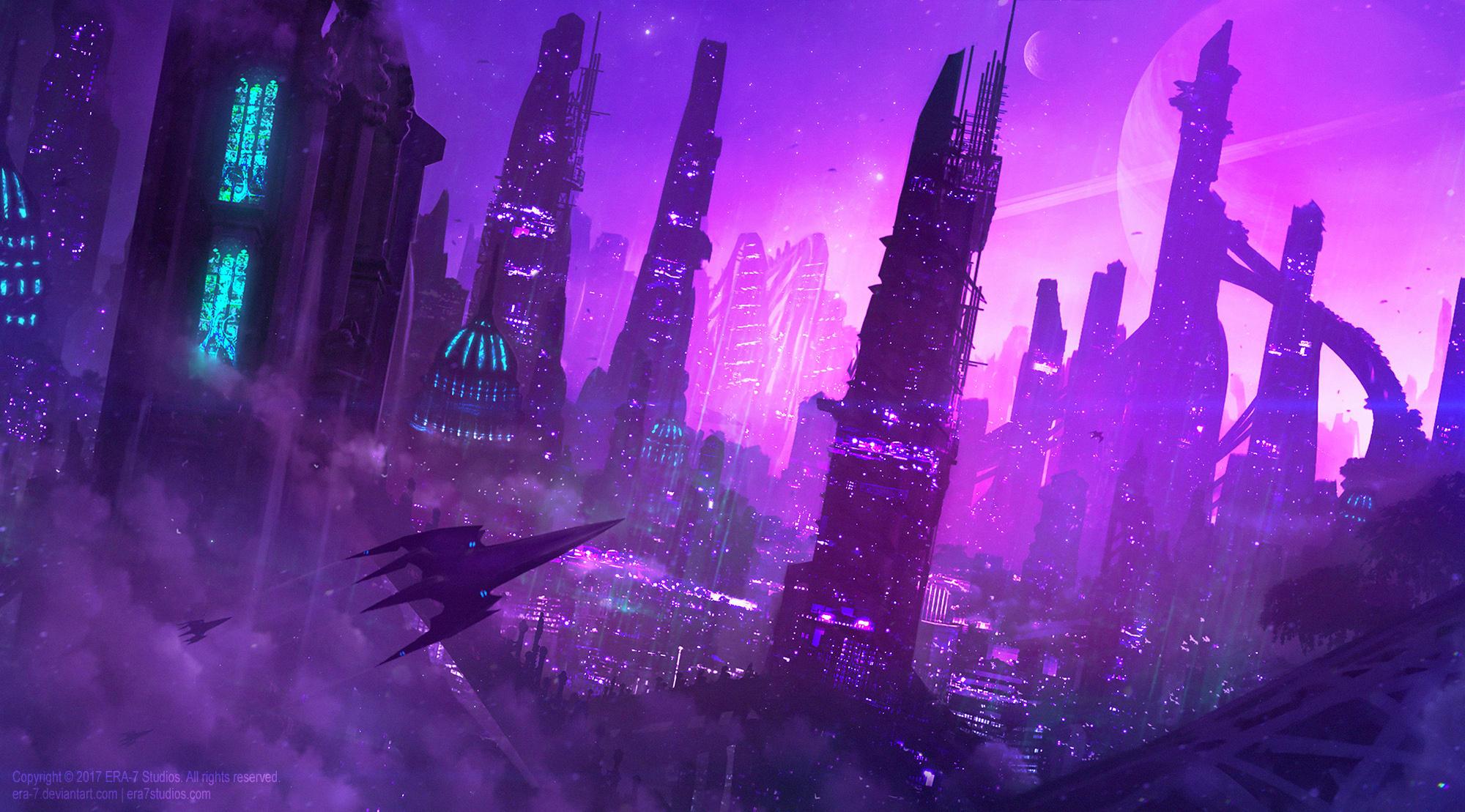 +City of the Amethyst Nights+ by ERA-7