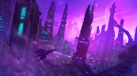 +City of the Amethyst Nights+ by ERA-7