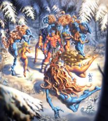 Fafnir and ninfas final color by Mundokk