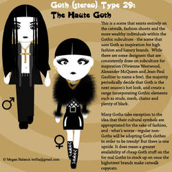 Goth Type 29: The Haute Goth by Trellia