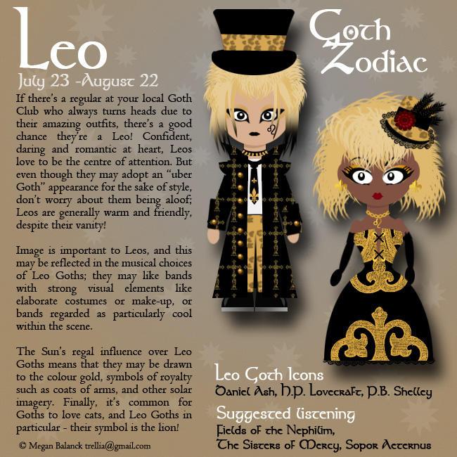 Goth Zodiac: Leo by Trellia