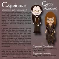 Goth Zodiac: Capricorn by Trellia