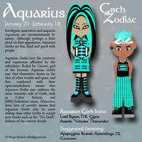 Goth Zodiac: Aquarius by Trellia