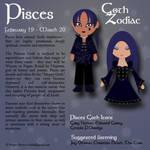 Goth Zodiac: Pisces by Trellia