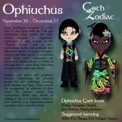 Goth Zodiac: Ophiuchus by Trellia
