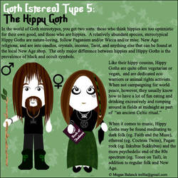 Goth Type 5: The Hippy Goth by Trellia
