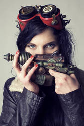 DieselPunk girl 07 by Nightvenjer