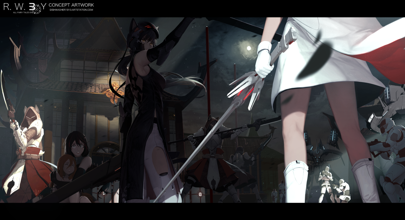 The stand off - RWBY 3.0 by dishwasher1910