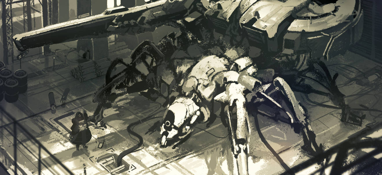 Mech inspection - Day sketch by dishwasher1910
