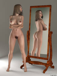 Posette in the mirror by LapinDeFer