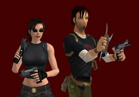 Lara and Kurtis 2 by JasonCroft