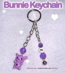 K Bunnie Keychain Commish by xlilbabydragonx