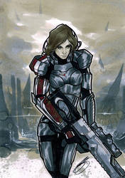 Female Shepard by CraigSoulsby