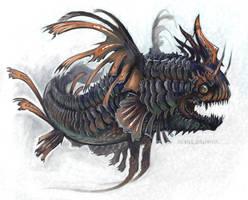 Painted Dragonfish by evil-santa
