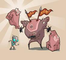 Ham Demon Valentine by evil-santa