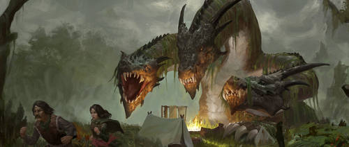 Angry hydra by ArturTreffner