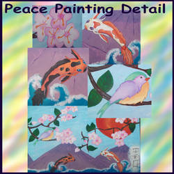 Peace Painting Detail by Fallonkyra
