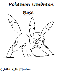 Umbreon Base by Child-Of-Hades