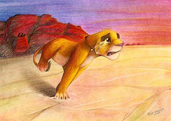 Simba runs away by kati-kopa
