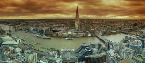 Skygarden -  London panorama from Skygarden by andreareno