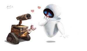 wall e + eve by encreink