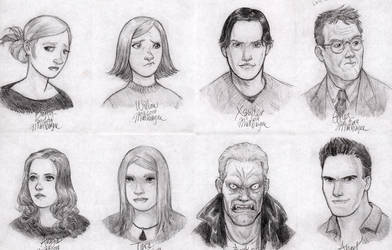 Buffy the Vampire Slayer sketches by heymatt