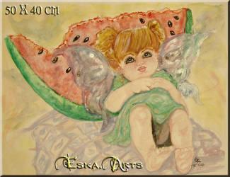 Little Fairy' Water melon' by XSTAMX