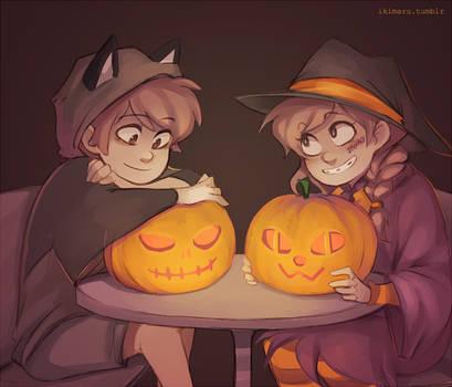 Spooky Pumpkins by ikimaru-art