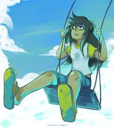 Summer Swing by ikimaru-art