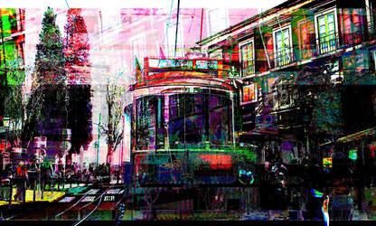 lisbon_tram_bent by archizero