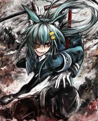 Hazen, wolf girl with sword by ALF874