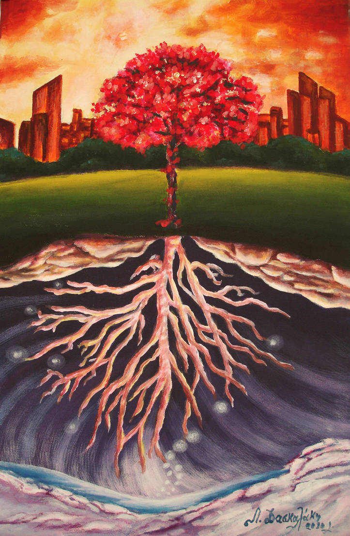 Tree Of Life Oil Painting By Danae Pleiadian On Deviantart