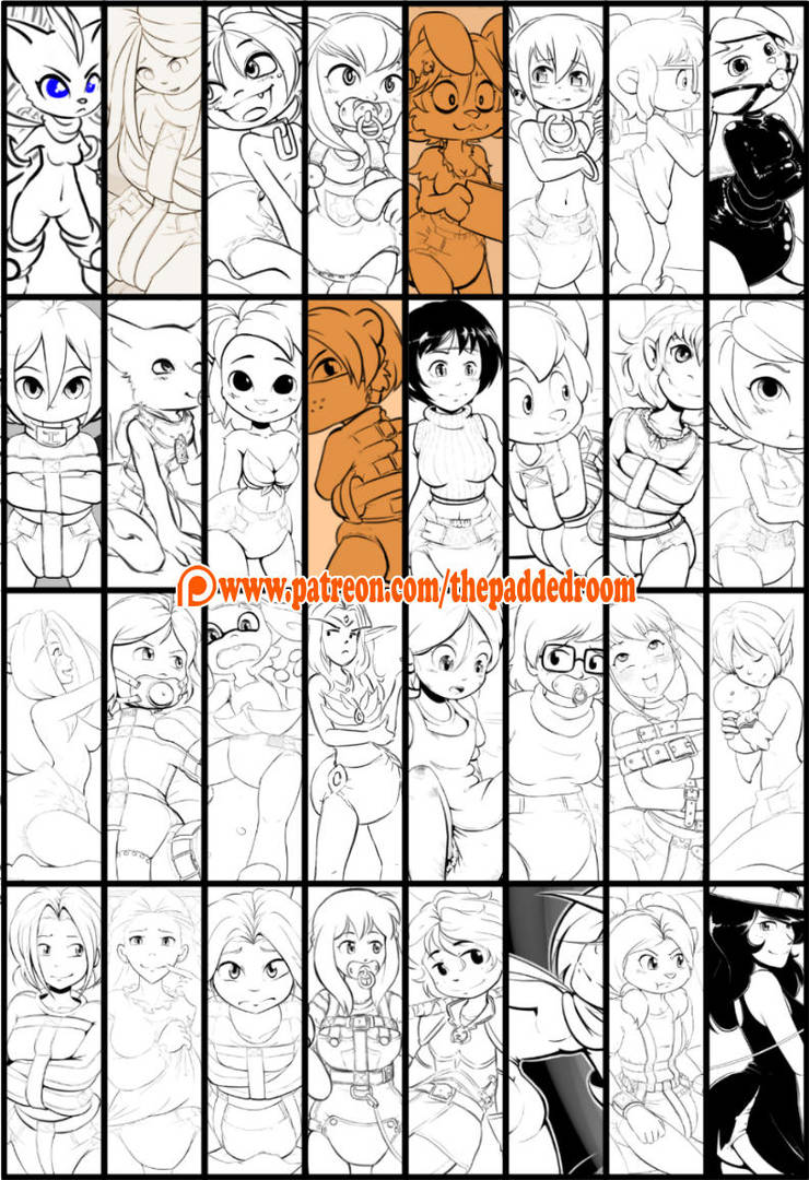 Inktober 2018 Complete by The-Padded-Room
