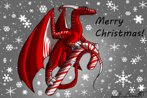 Candy Cane Dragon Request Gift by Lucieniibi