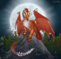 Lainovra- Prismetal Dragon- DnD [Commission] by Lucieniibi