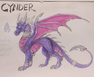 TLoS- Stronghold of Steel- Cynder Reference by Lucieniibi