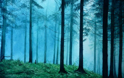 Mystic forest by AnMaj