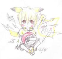 pikachu gijinka by pinku-tenshi