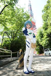 Ayanami Rei stand near the Tokyo Tower. by doller98-TAKA