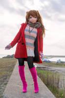 Asuka put on a duffel coat. (2) by doller98-TAKA